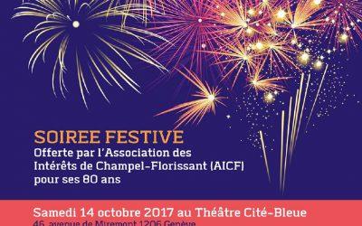 Soirée festive pour les 80 ans de l'AICF !